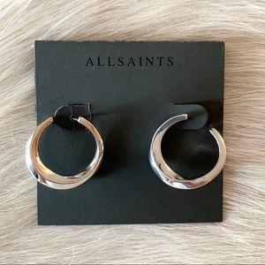 All Saints freeform sculptural hoop earrings